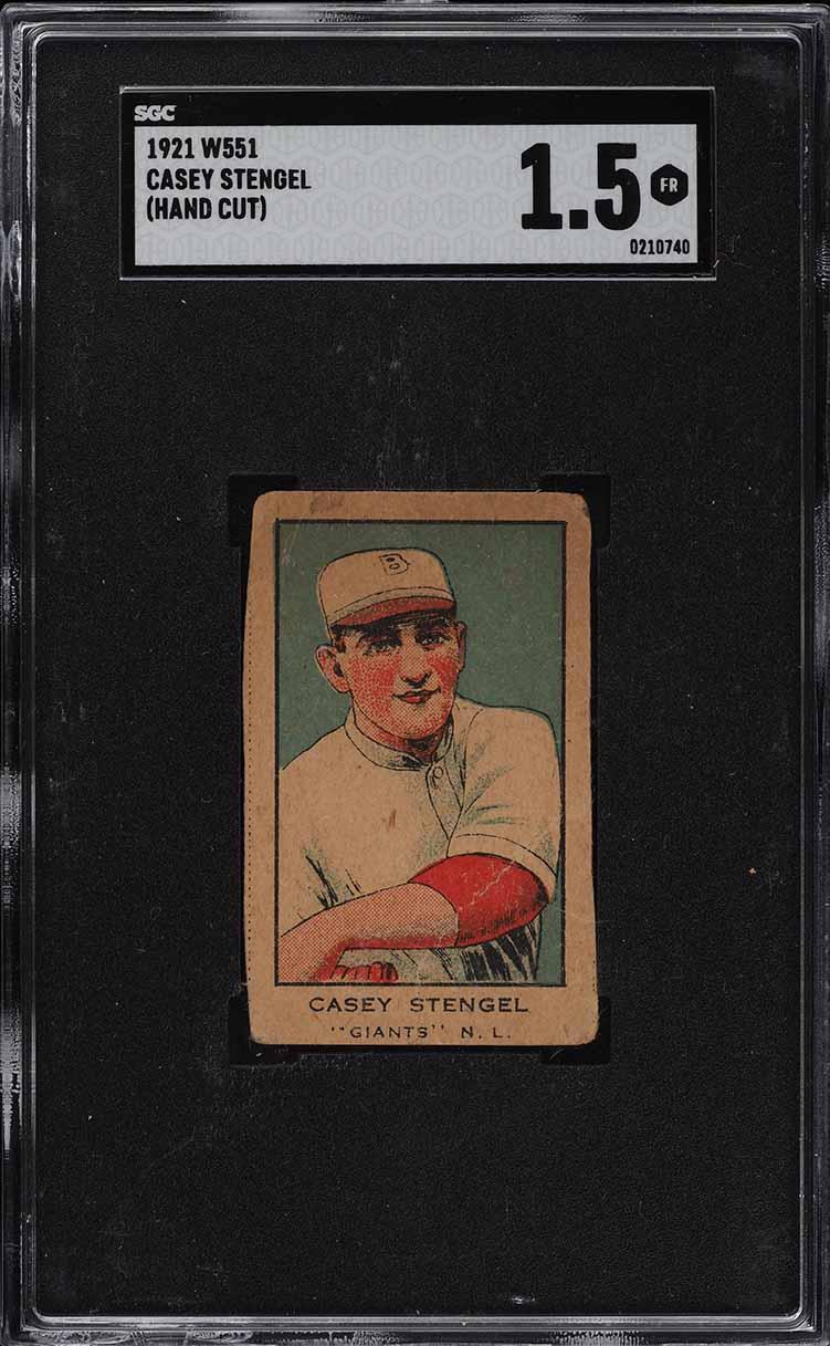 1921 W551 Strip Card Casey Stengel SGC 1.5 FR (PWCC) - Image 1