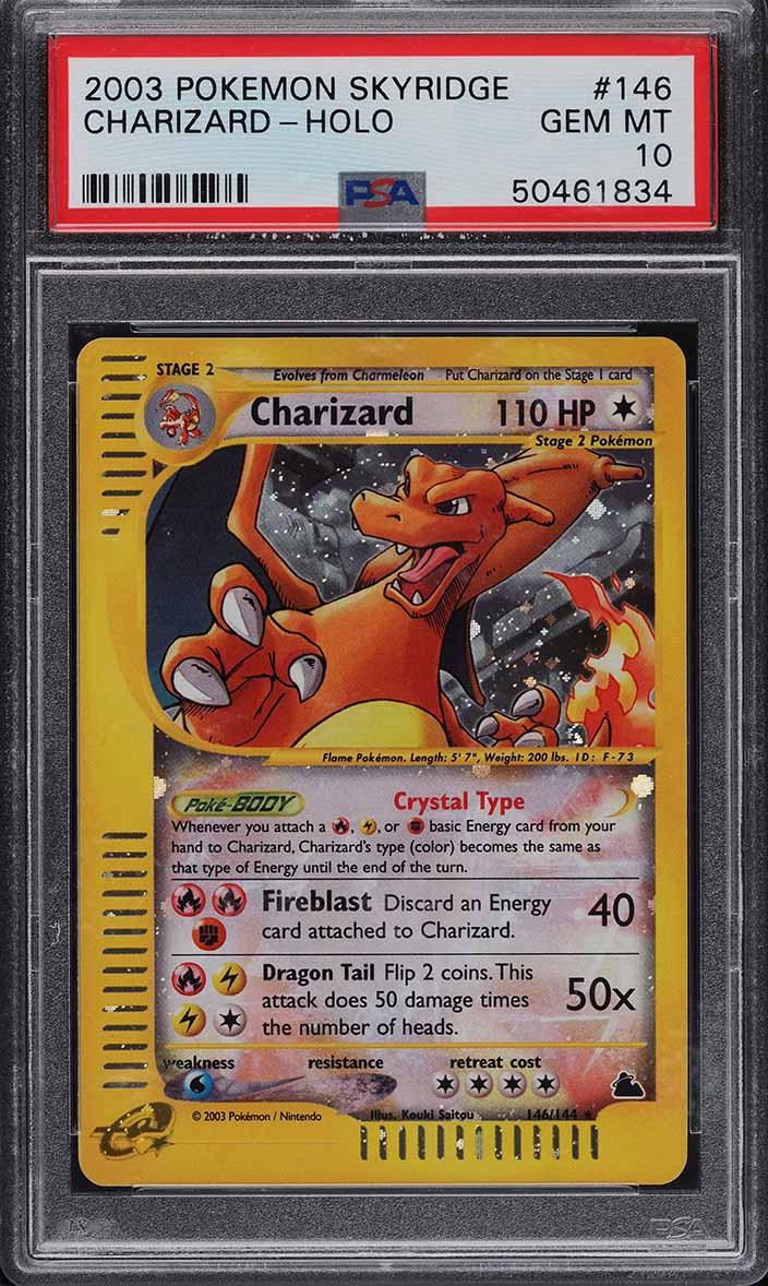 2003 Pokemon Skyridge Holo Crystal Charizard #146 PSA 10 GEM MINT - Image 1