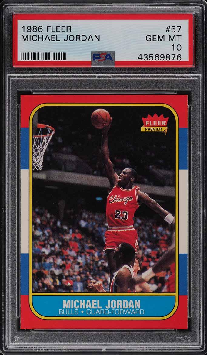 1986 Fleer Basketball Michael Jordan ROOKIE RC #57 PSA 10 GEM MINT (PWCC-A) - Image 1