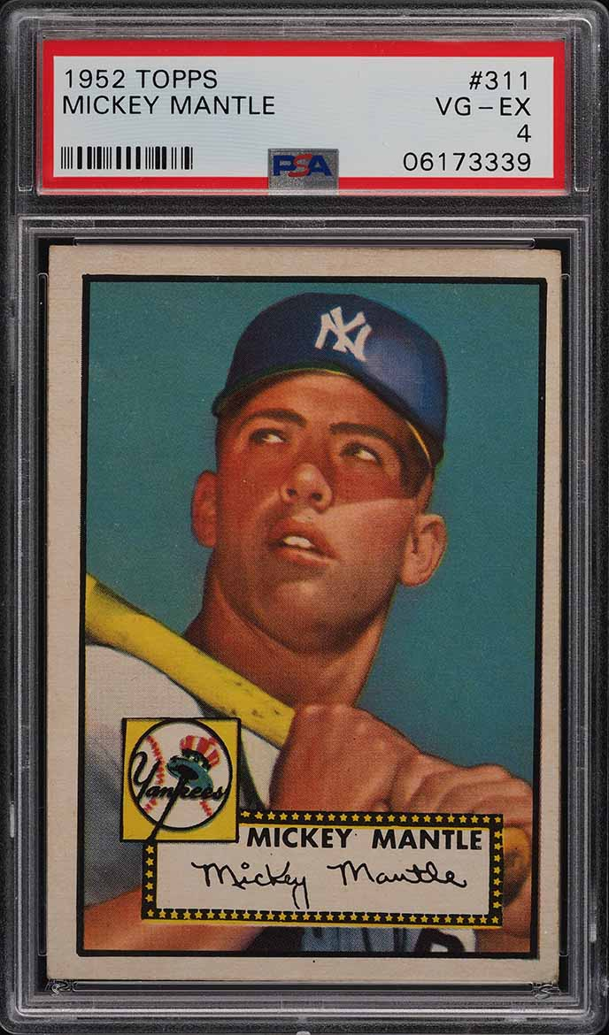 1952 Topps Mickey Mantle #311 PSA 4 VGEX - Image 1