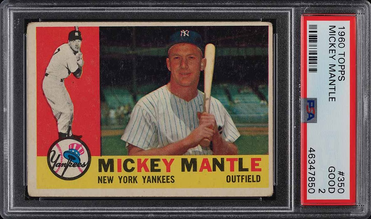 1960 Topps Mickey Mantle #350 PSA 2 GD - Image 1