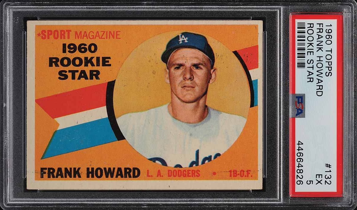 1960 Topps Frank Howard ROOKIE RC #132 PSA 5 EX - Image 1