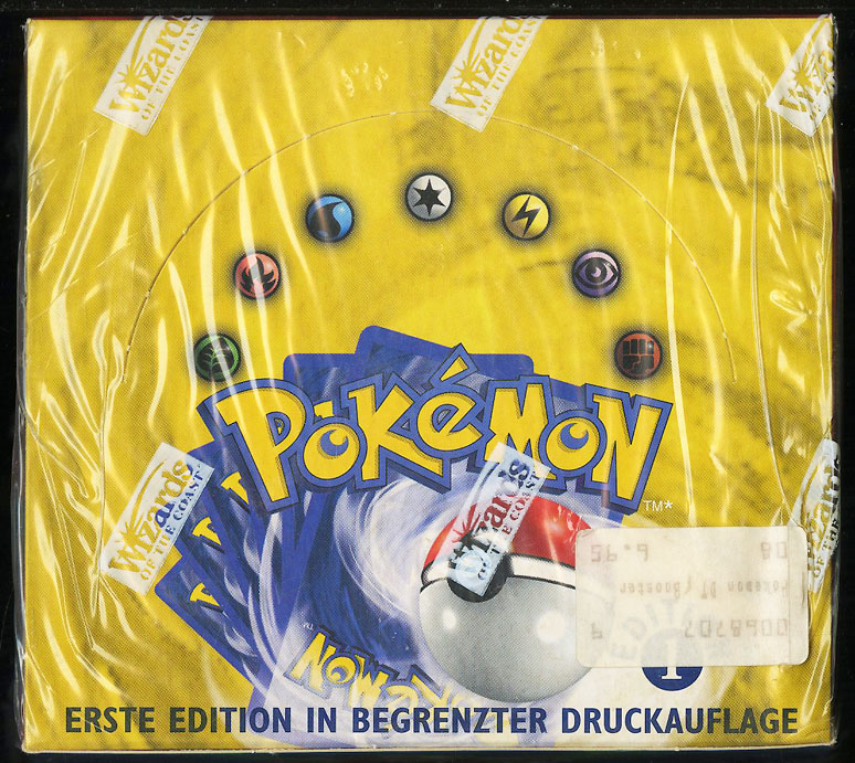 1999 Pokemon Base 1st Edition German Booster Box, Blue Wing Charizard Glurak? - Image 1