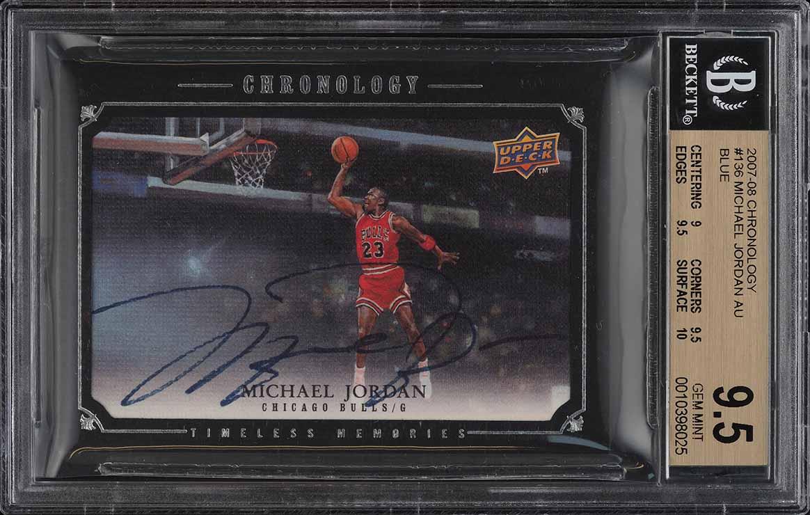2007 UD Chronology Timeless Memories Michael Jordan AUTO /99 BGS 9.5 GEM (PWCC) - Image 1