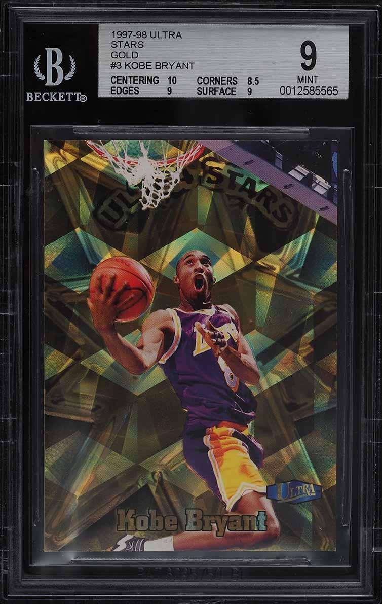1997 Ultra Stars Gold Kobe Bryant #3 BGS 9 MINT - Image 1