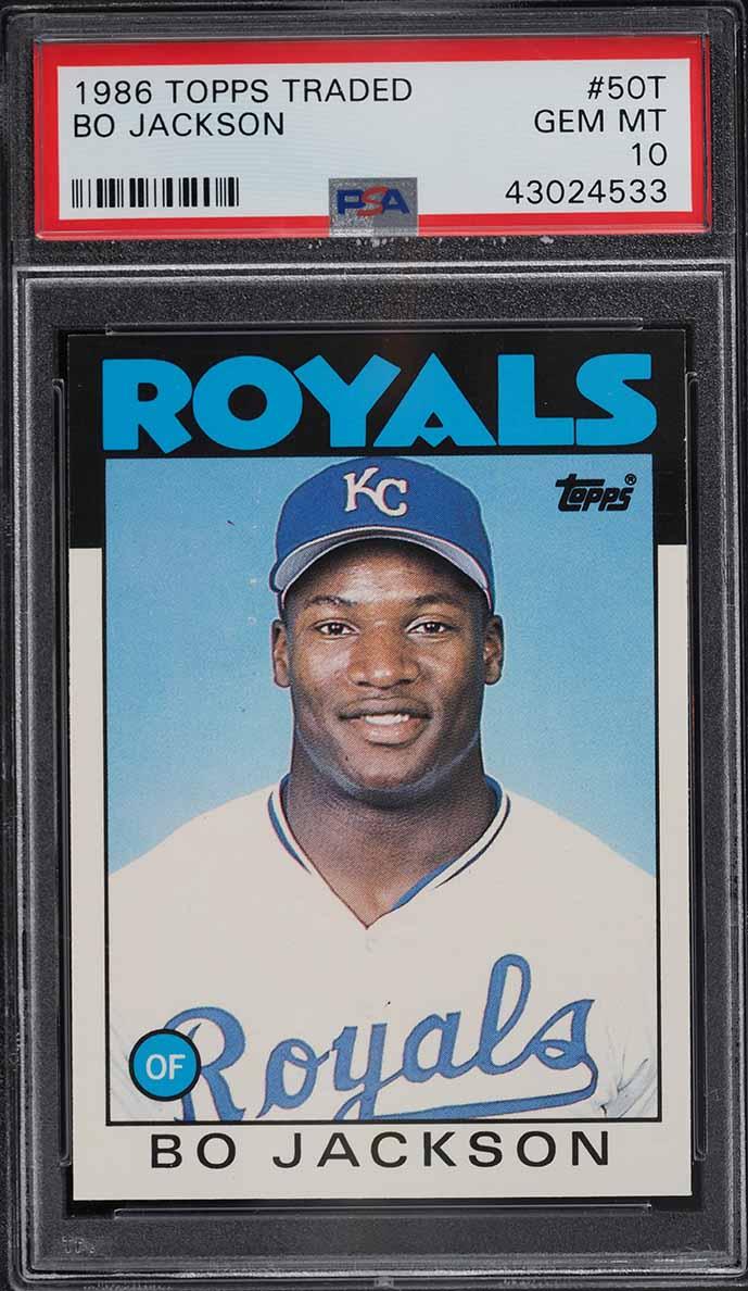 1986 Topps Traded Bo Jackson ROOKIE RC #50T PSA 10 GEM MINT - Image 1