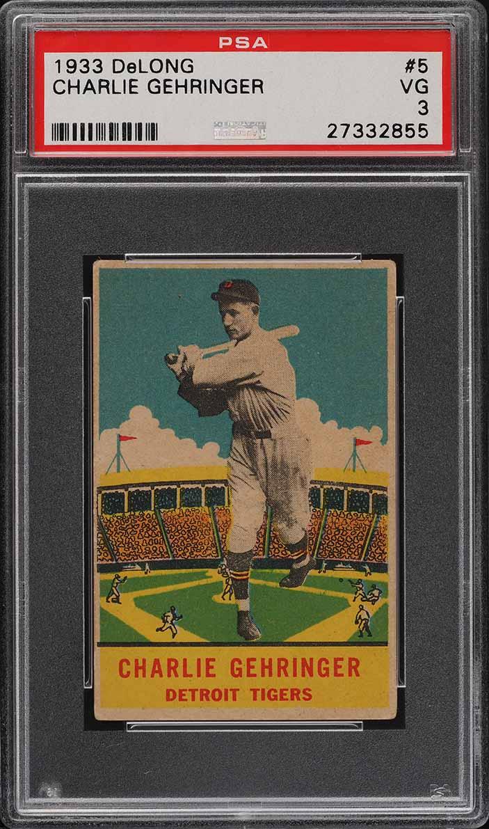 1933 DeLong Charlie Gehringer #5 PSA 3 VG (PWCC-A) - Image 1