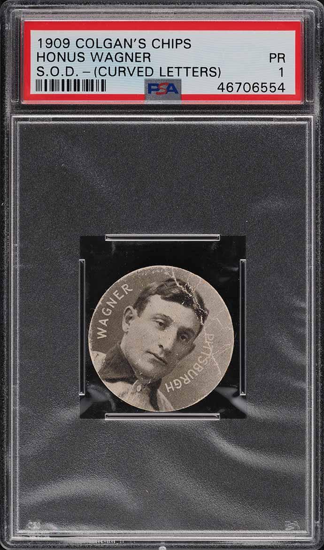 1909 Colgan's Chips Honus Wagner CURVED LETTERS PSA 1 PR - Image 1