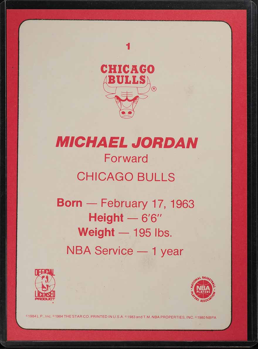 1985 Star Team Supers 5X7 Michael Jordan ROOKIE RC #CB1 (PWCC) - Image 2