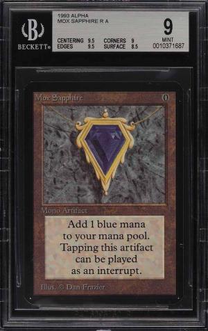 1993 Magic The Gathering MTG Alpha Mox Sapphire R A BGS 9 MINT