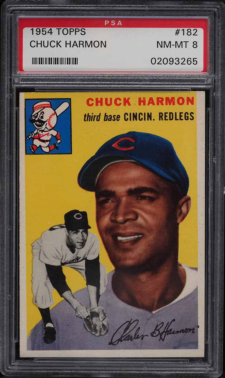 1954 Topps Chuck Harmon #182 PSA 8 NM-MT - Image 1