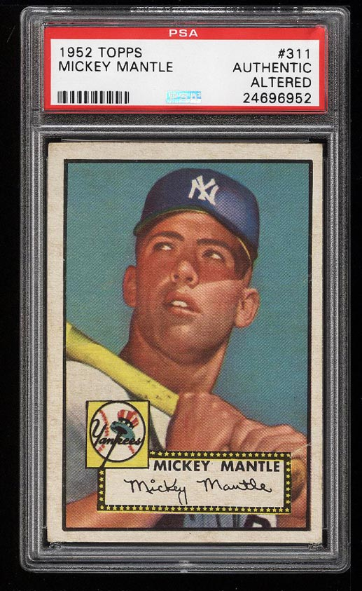 1952 Topps Mickey Mantle #311 PSA AUTH (PWCC) - Image 1