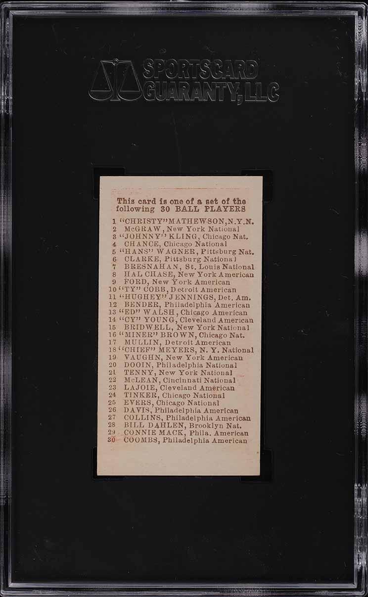 1910 E98 Set Of 30 Ty Cobb RED SGC 9 MINT - Image 2
