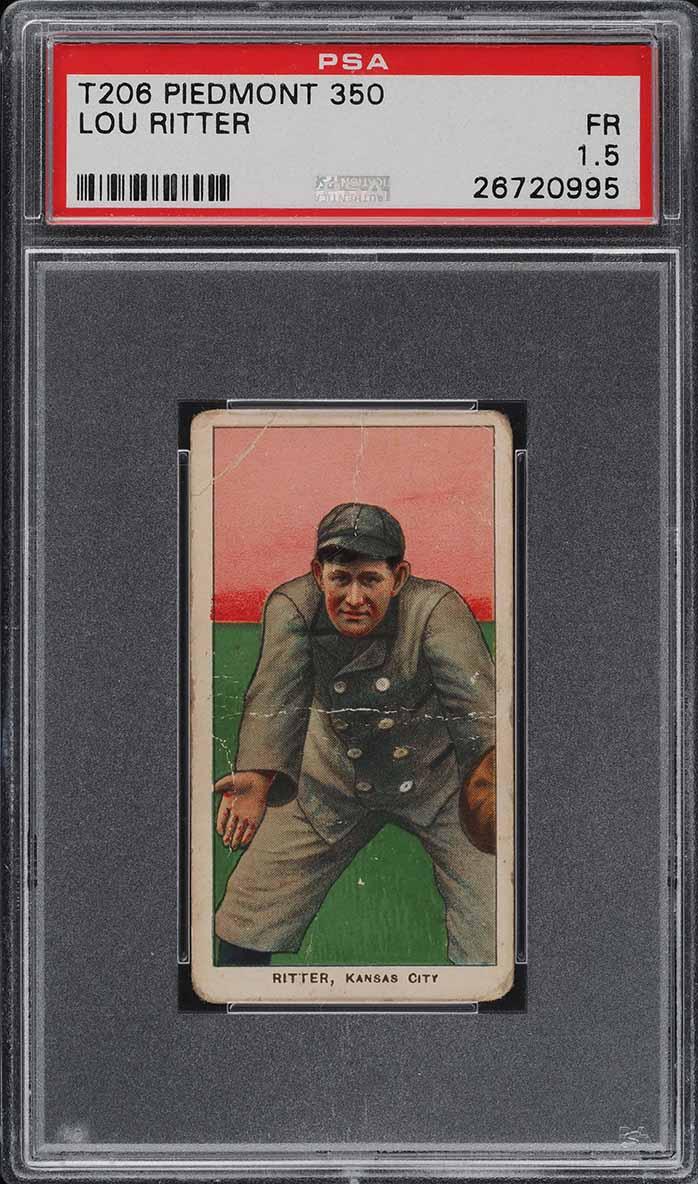 1909-11 T206 Lou Ritter PSA 1.5 PR (PWCC) - Image 1