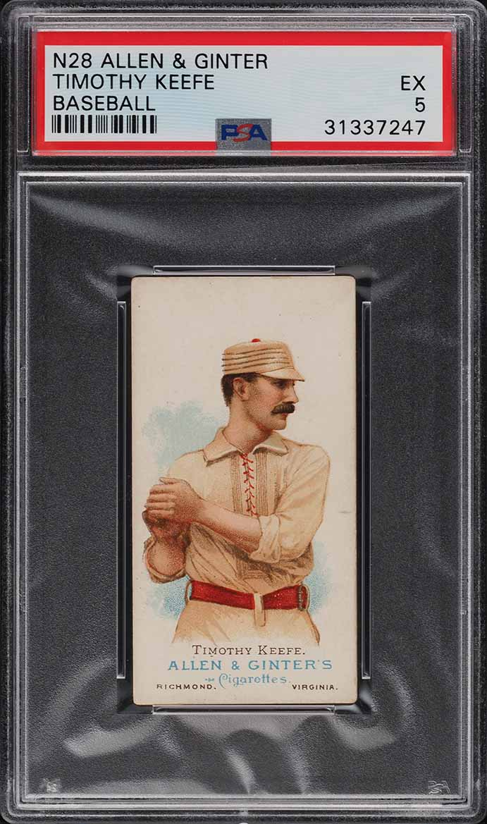 1888 N28 Allen & Ginter Timothy Keefe PSA 5 EX (PWCC-A) - Image 1