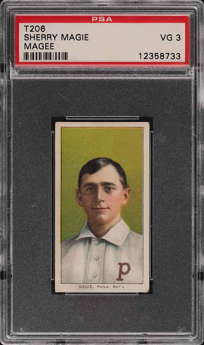 1909-11 T206 Sherry Magee MAGIE ERROR PSA 3 VG (PWCC-E) - Image 1