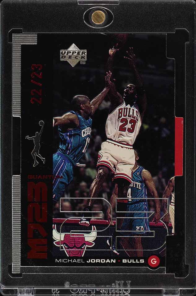 1998 Upper Deck MJ23 Quantum Silver Die-Cut Michael Jordan 22/23 #M11 (PWCC) - Image 1