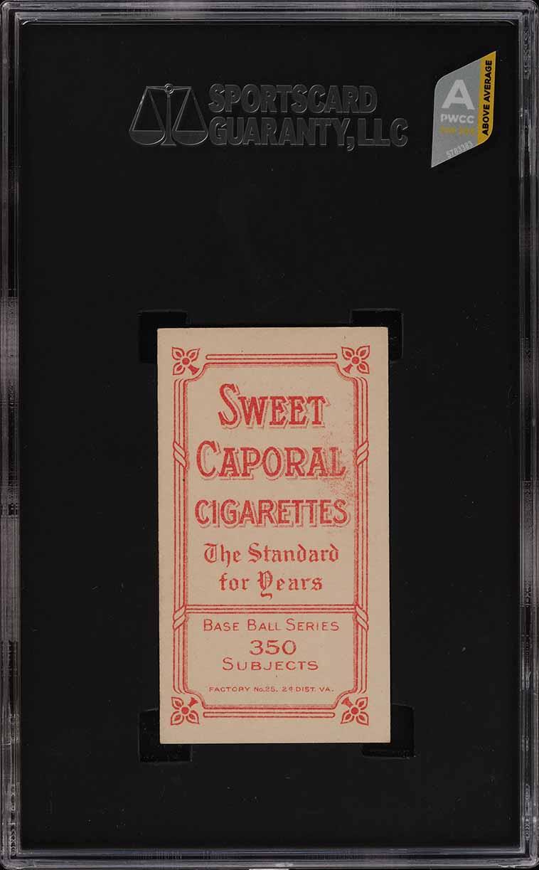 1909-11 T206 Ty Cobb RED PORTRAIT SGC 8 NM-MT (PWCC-A) - Image 2