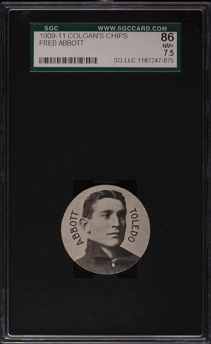 1909 Colgan's Chips Fredd Abbott SGC 7.5 NRMT+ - Image 1
