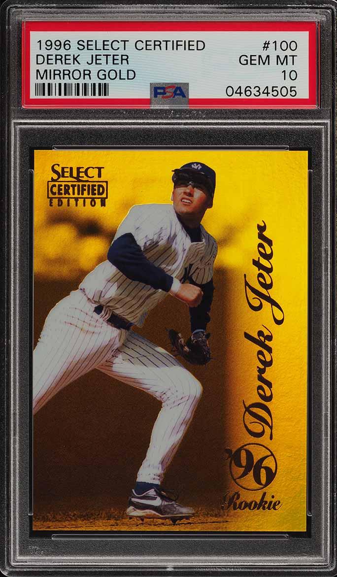 1996 Select Certified Mirror Gold Derek Jeter ROOKIE RC /30 #100 PSA 10 (PWCC) - Image 1