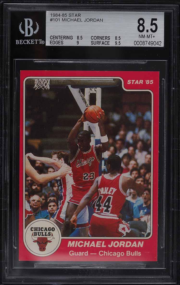 1984-85 Star Basketball Michael Jordan ROOKIE RC #101 BGS 8.5 NM-MT+ - Image 1