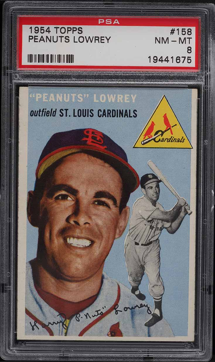 1954 Topps Peanuts Lowrey #158 PSA 8 NM-MT - Image 1