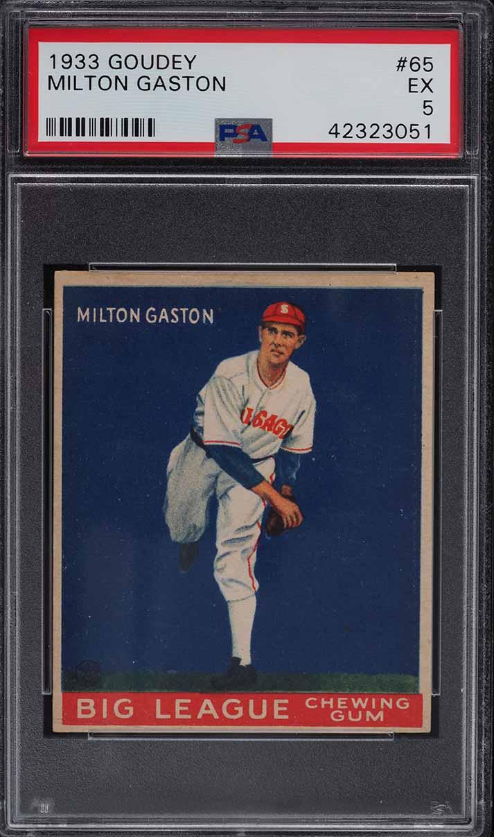 1933 Goudey Milton Gaston #65 PSA 5 EX - Image 1