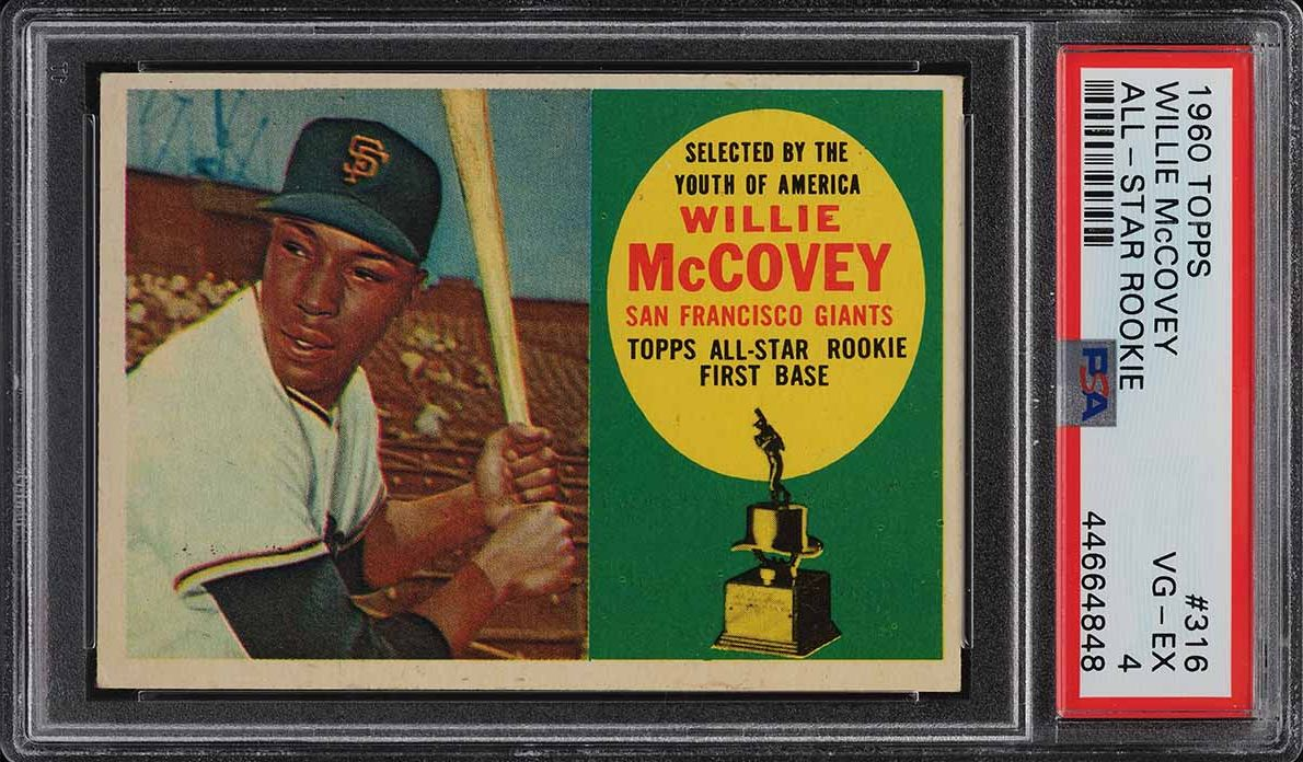 1960 Topps Willie McCovey ROOKIE RC #316 PSA 4 VGEX - Image 1