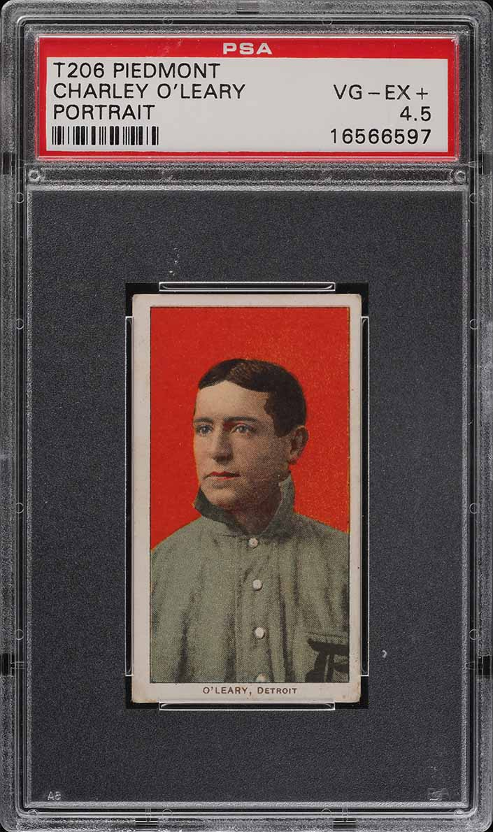 1909-11 T206 Charley O'Leary PORTRAIT PSA 4.5 VGEX+ (PWCC) - Image 1