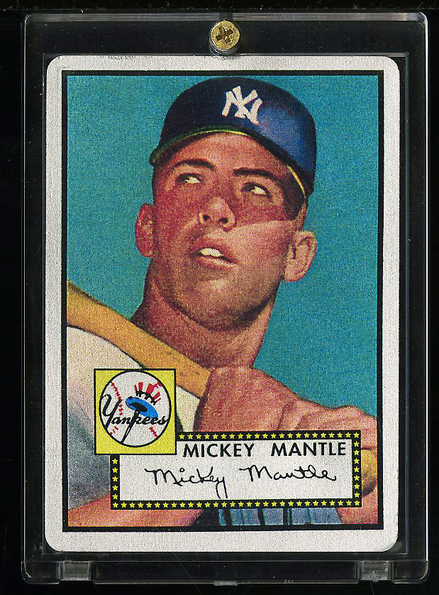 Image of: 1952 Topps Mickey Mantle #311 The Keeper Series Commemorative /536 COA (PWCC)