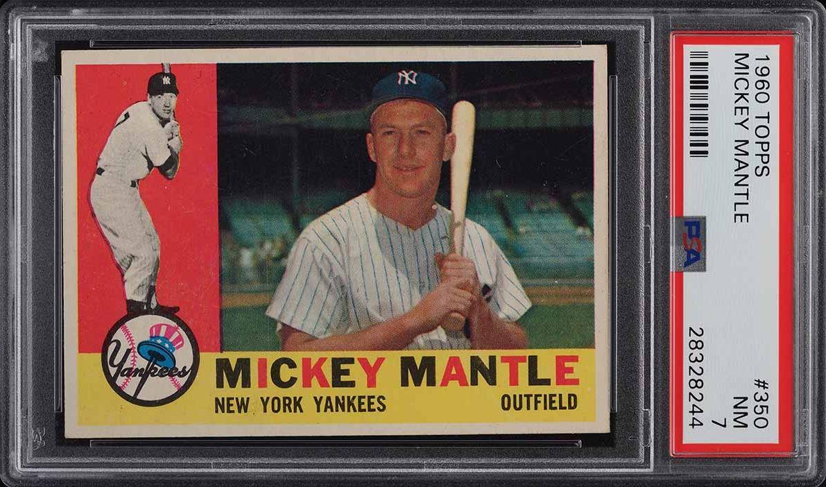 1960 Topps Mickey Mantle #350 PSA 7 NRMT (PWCC-A) - Image 1