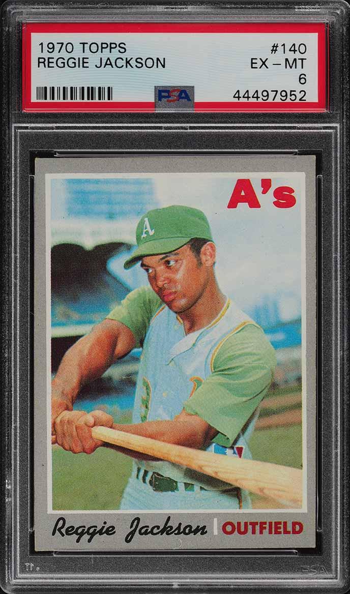 1970 Topps Reggie Jackson #140 PSA 6 EXMT (PWCC) - Image 1