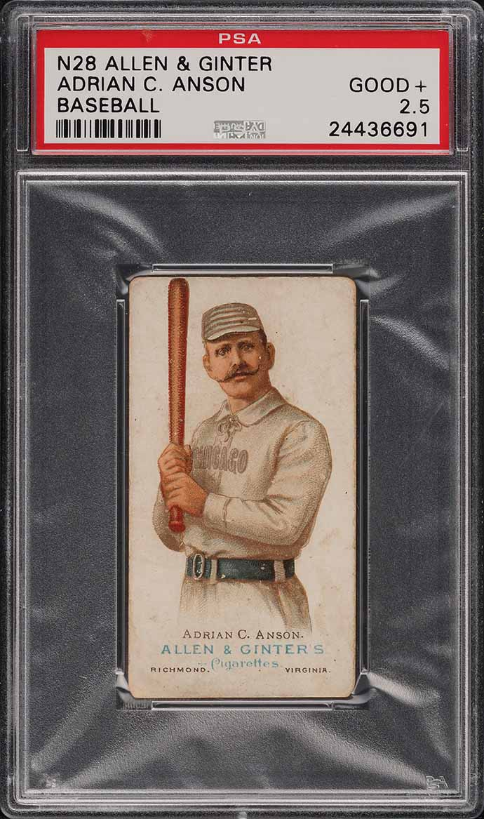 1888 N28 Allen & Ginter Adrian Cap Anson PSA 2.5 GD+ - Image 1