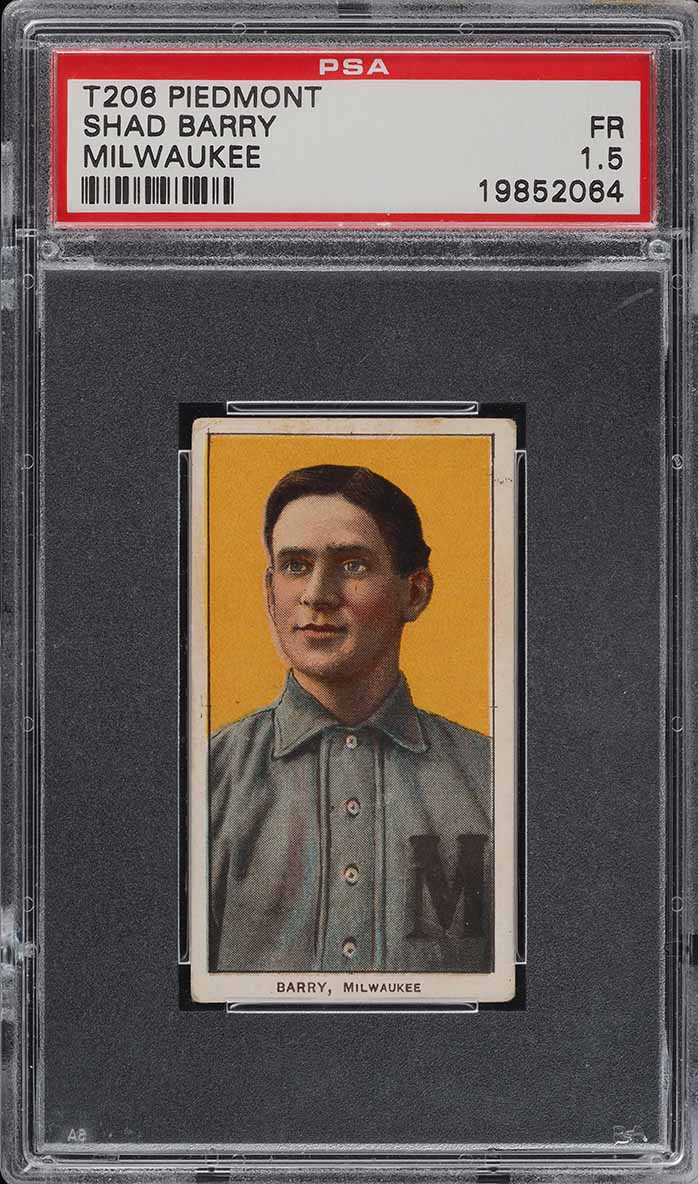 1909-11 T206 Shad Barry MILWAUKEE PSA 1.5 PR (PWCC) - Image 1