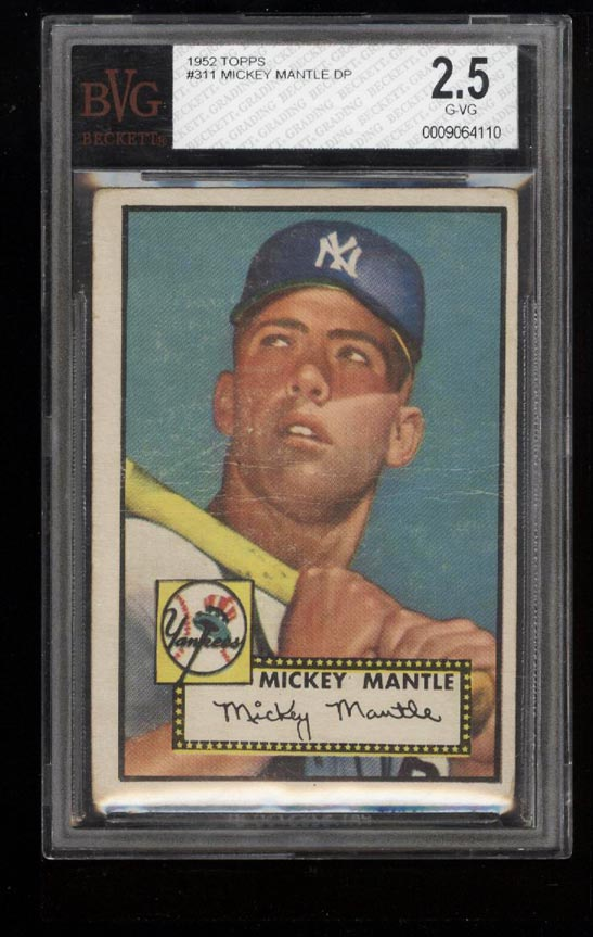 1952 Topps Mickey Mantle #311 BVG 2.5 GD+ (PWCC) - Image 1