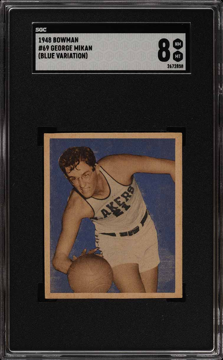 1948 Bowman Basketball George Mikan ROOKIE RC #69 SGC 8 NM-MT (PWCC) - Image 1