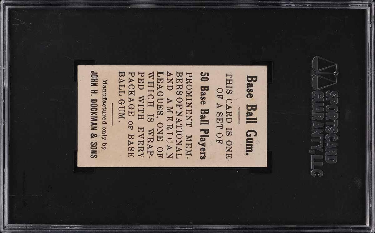 1909 E92 Dockman & Sons Christy Mathewson SGC 7 NRMT - Image 2