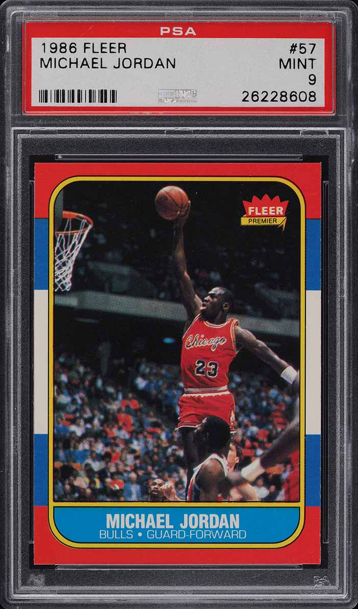 1986 Fleer Basketball Michael Jordan ROOKIE RC #57 PSA 9 MINT (PWCC-A) - Image 1