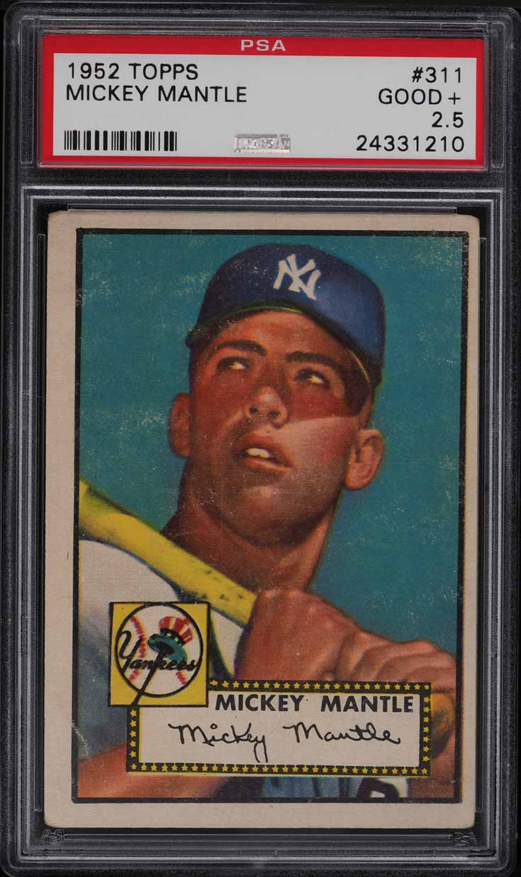 1952 Topps Mickey Mantle #311 PSA 2.5 GD+ - Image 1