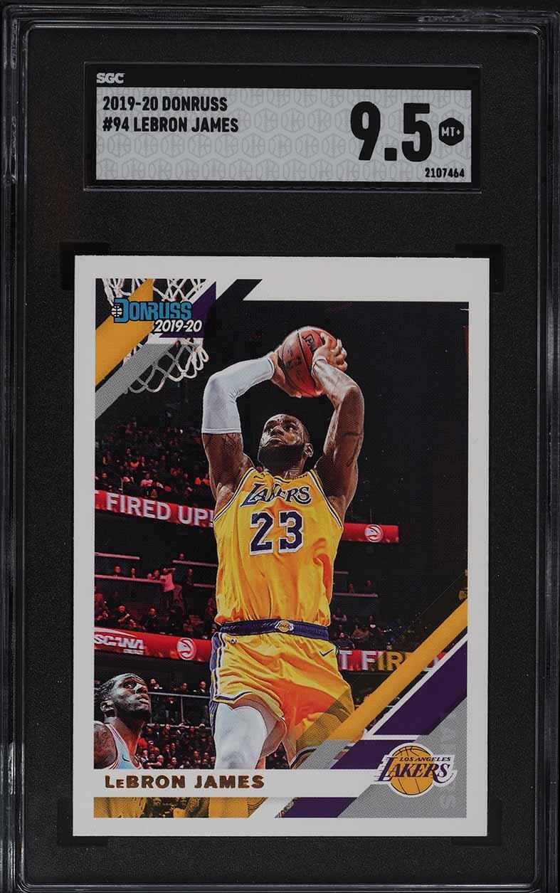 2019 Donruss Basketball LeBron James #94 SGC 9.5 MINT+ - Image 1