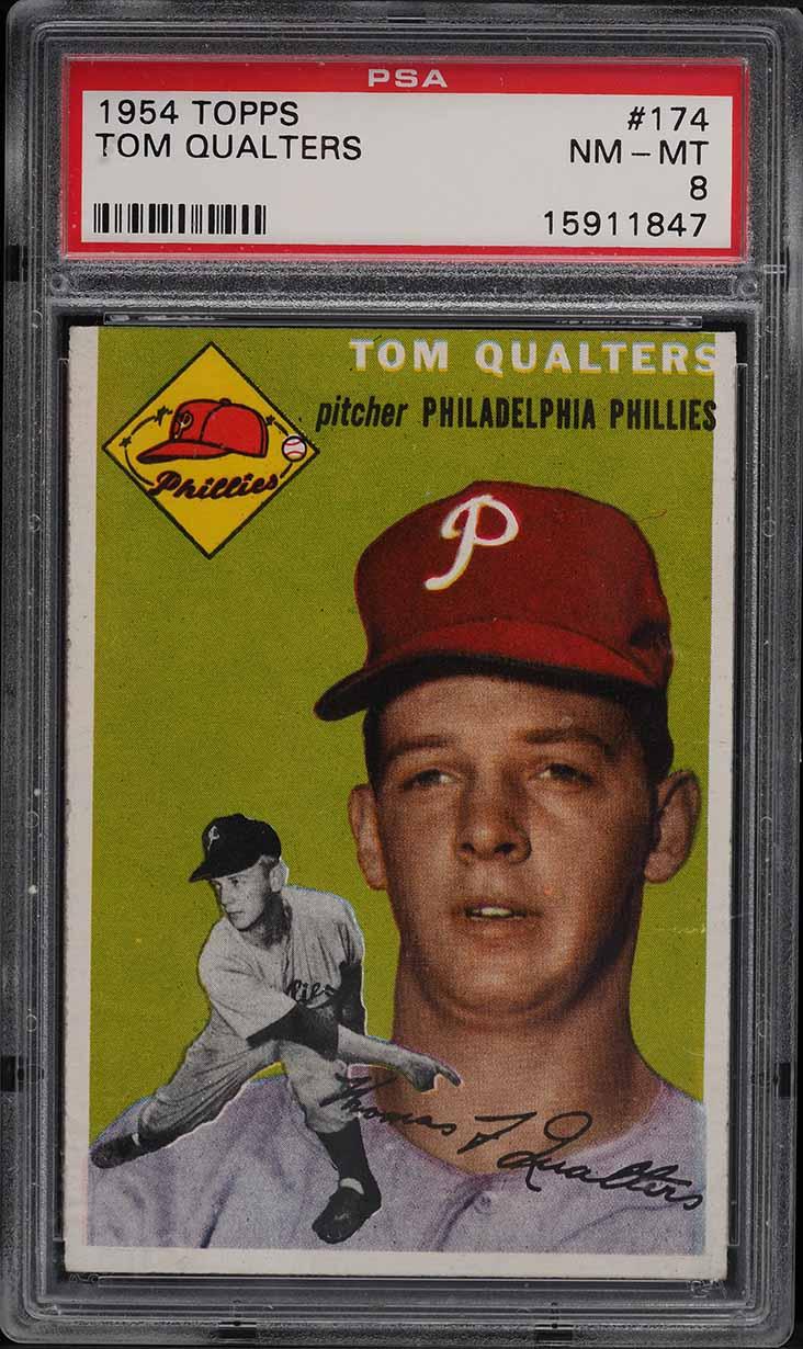1954 Topps Tom Qualters #174 PSA 8 NM-MT - Image 1