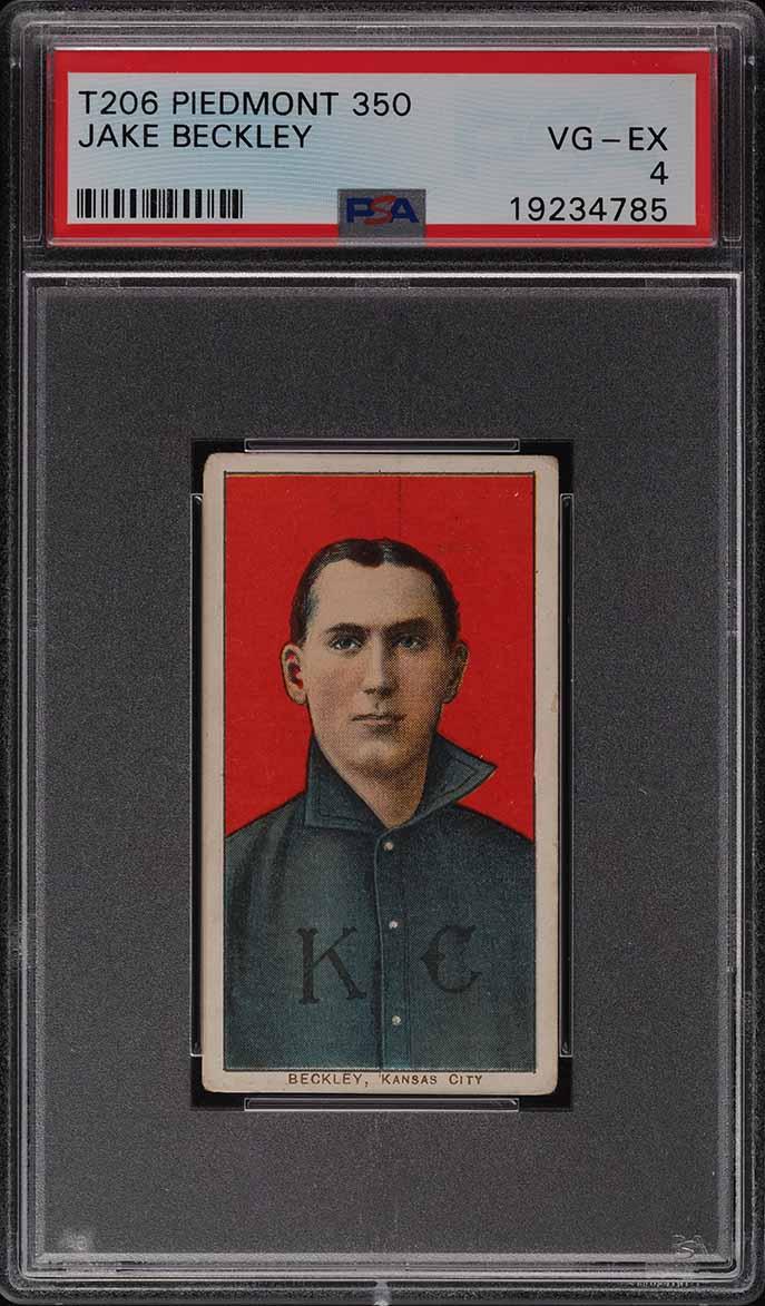 1909-11 T206 Jake Beckley PSA 4 VGEX - Image 1