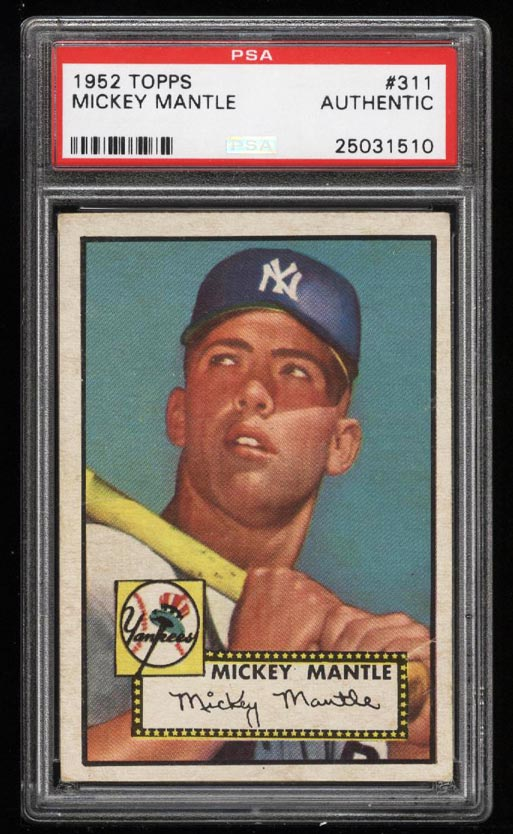 1952 Topps Mickey Mantle #311 PSA Authentic, GD+/VG (PWCC) - Image 1