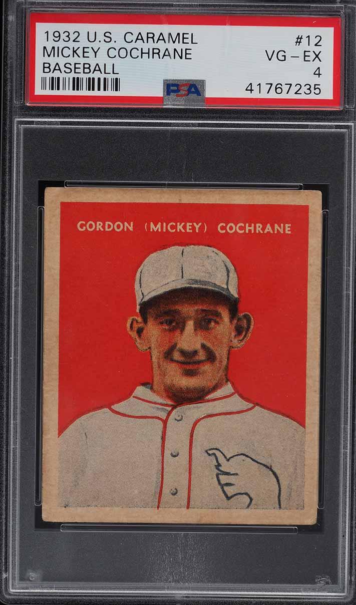 1932 U.S. Caramel Mickey Cochrane #12 PSA 4 VGEX - Image 1