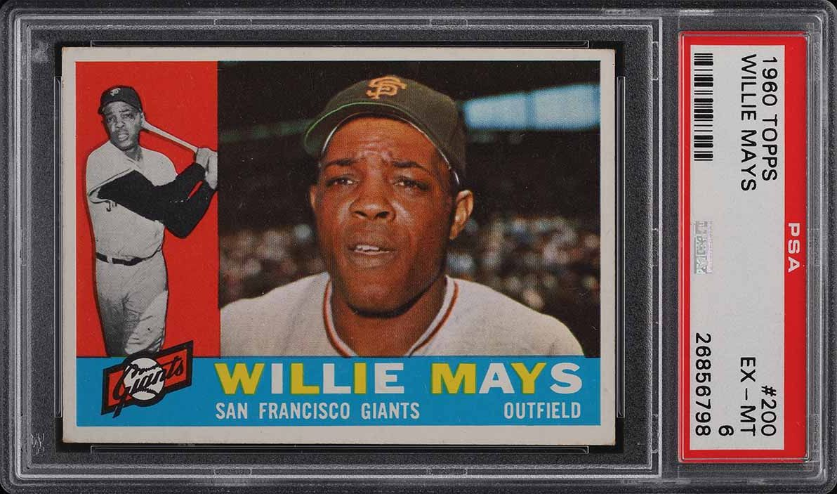 1960 Topps Willie Mays #200 PSA 6 EXMT - Image 1