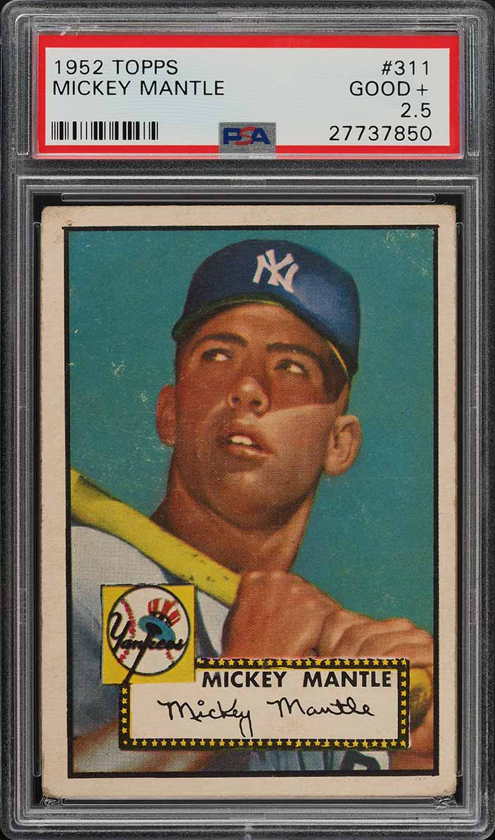 1952 Topps Mickey Mantle #311 PSA 2.5 GD+ (PWCC) - Image 1