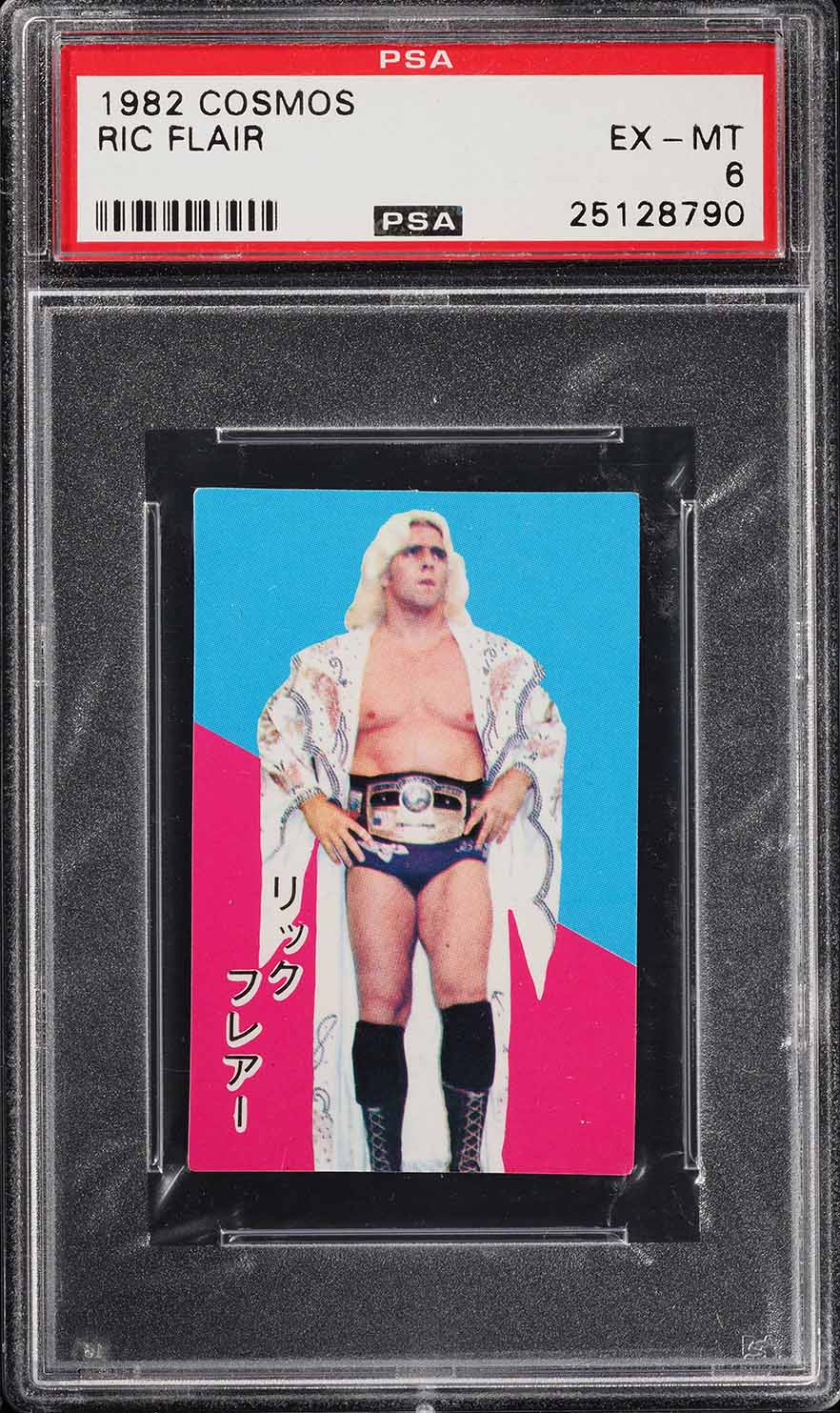 1982 Cosmos Wrestling Ric Flair PSA 6 EXMT (PWCC) - Image 1