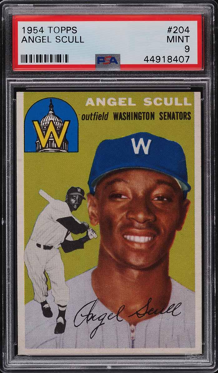 1954 Topps Angel Scull #204 PSA 9 MINT - Image 1
