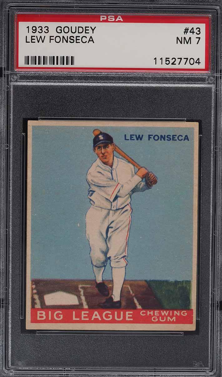 1933 Goudey Lew Fonseca #43 PSA 7 NRMT - Image 1