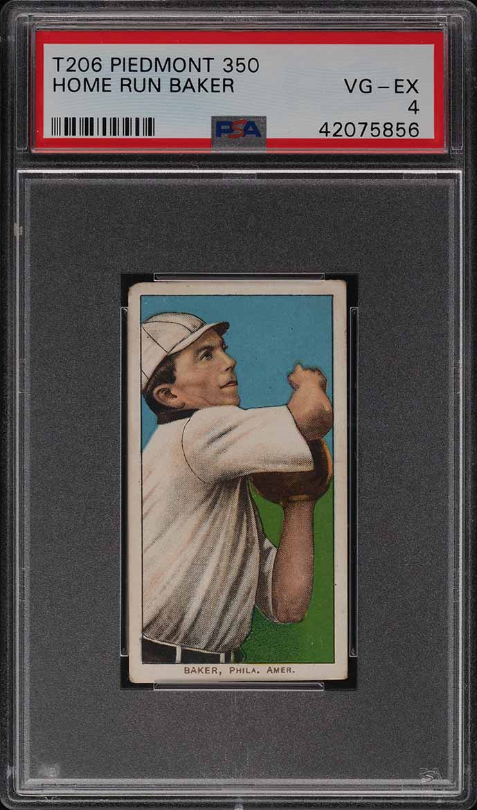 1909-11 T206 Home Run Baker PSA 4 VGEX - Image 1